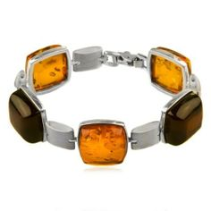 Sterling Silver Multicolor Amber Square Bracelet 8 Inches GRACIANA. $389.78. All amber jewelry designs are from Eastern Europe