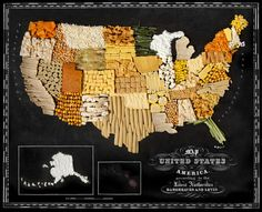 Fascinating Maps Made From Regional Foods