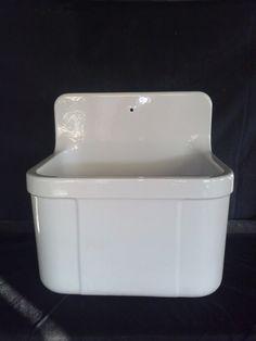RsRvD / Architectural SALVAGE Bone White Concrete Farm Sink Vintage Utility  Tub Laundry Room