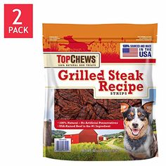 Top Chews Grilled Steak Recipe Strips 40 Oz Lb) by top chews grilled steak recipe strips - You could get additional details at the image link. (This is an affiliate link and I receive a commission for the sales) Grilled Steak Recipes, Grilling Recipes, Dog Food Recipes, Toxic Foods For Dogs, Dog Grooming Supplies, Pet Supplies, Natural Dog Treats, Strip Steak, Can Dogs Eat