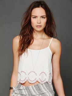 Embroidered Hem Crop Cami http://www.freepeople.com/whats-new/embroidered-hem-crop-cami-26943050/