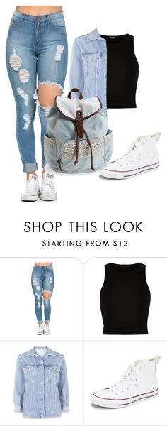 """""""Blueee"""" by kayleighmw on Polyvore featuring River Island, Topshop, Converse, Aéropostale, women's clothing, women, female, woman, misses and juniors"""