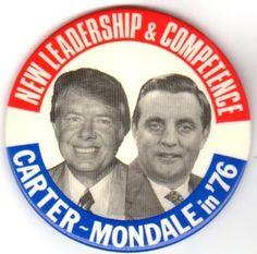 Jimmy Carter- Walter Mondale campaign button 1976