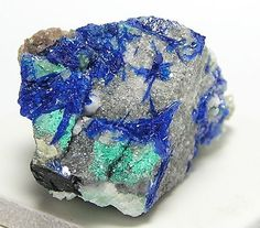 Rare Blue Mineral Linarite Crystals Specimen New by FenderMinerals,