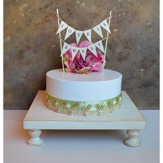 Cake Stand Cupcake Stand Dessert Table Decor 14 Square Wedding Cake... (€50) ❤ liked on Polyvore featuring home, kitchen & dining, serveware, cake stands, dining & serving, grey, home & living, wooden cake stand, wooden cake pedestal and wooden cupcake stand
