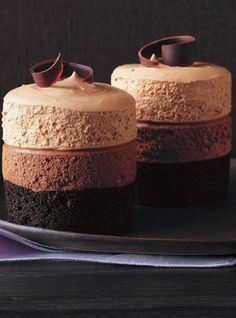 Triple-Chocolate Mousse Cake