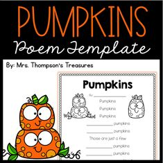 Fill in the blanks with adjectives to create your very own pumpkin poem!