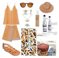 """Greek summer!"" by harikleiatsirka on Polyvore featuring Korres"