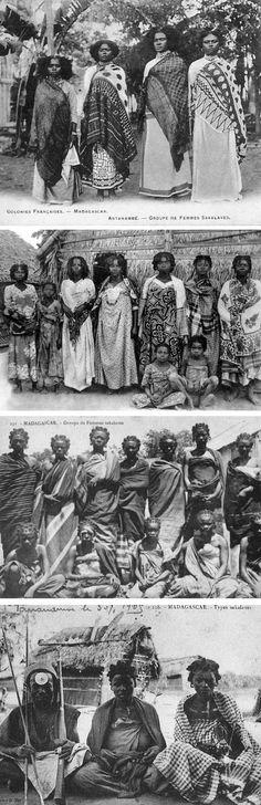 "Africa | ""Types Sakalaves"" Madagascar. || Vintage postcards; ca early 20th century"
