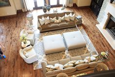 family room layout - 2 chairs - 2 couches