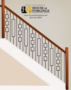 Check out this staircase layout I created using StairArtist at House of Forgings Staircase Railing Design, Interior Stair Railing, Modern Stair Railing, Staircase Handrail, Balcony Railing Design, House Staircase, Iron Stair Railing, Stair Decor, Wooden Staircases