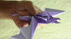 How to make a Paper Flying Dragon Origami / Как сделать Дракон летящий из бумаги Оригами - YouTube