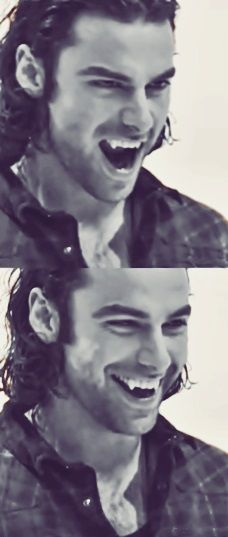 Aidan Turner's prop teeth in Being Human (UK) -- ONE OF THESE DAYS I OUGHT TO CHECK OUT HIS SHOW.