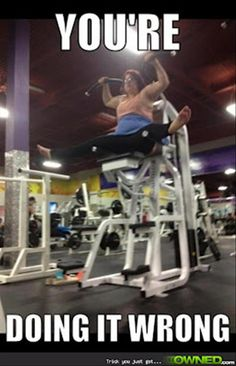 She got a lot of stares at the gym