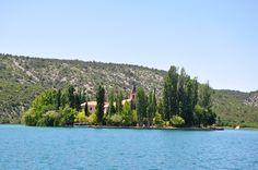 Island Visovac on river Krka, Croatia Adriatic Sea, Coast, River, Island, Outdoor, Block Island, Outdoors, Outdoor Games, Outdoor Living