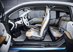 The 2016 BMW is the featured model. The 2016 BMW Inside image is added in the car pictures category by the author on Jun Bmw I3 Interior, Car Interior Design, Auto Design, Interior Ideas, 2016 Bmw I3, 2017 Bmw, Bmw Electric Car, Urban Electric, Car Upholstery