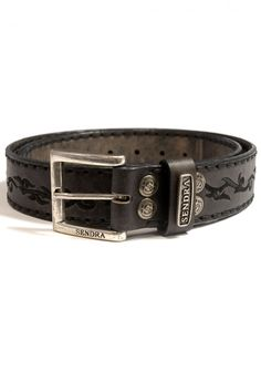 Mens Leather Belts by Sendra 1067 Olimpia Antracita Lavado