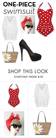 """Untitled #115"" by jacksepticfan ❤ liked on Polyvore featuring Melissa Odabash, Kate Spade and Charlotte Olympia"