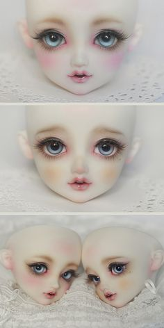 doll face painting Ideas Doll Painting Polymer Clay For 2019 Eye Painting, Doll Painting, Doll Face Paint, Doll Making Tutorials, Doll Makeup, Polymer Clay Dolls, Doll Tutorial, Doll Repaint, Little Doll