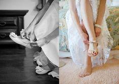 """Sapatilha ou rasteirinha para as noivas no verão? Sapatilha ou rasteirinha para as noivas no verão? A palavra """"sapato"""" soa tão magicamente para os ouvidos de uma mulher, que quando o assunto é ele, todas param para olhar, ainda mais quando é de uma..."""