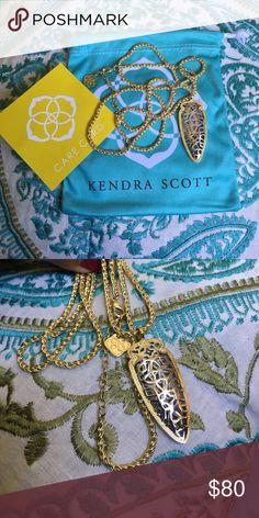💞Kendra Scott Sienna Gold Necklace Gorgeous Sienna Necklace with gold & silver!  Lightly worn once! 😍 In Mint condition! Comes with dust bag! I take very good care of my jewelry 🤗 Kendra Scott Jewelry Necklaces
