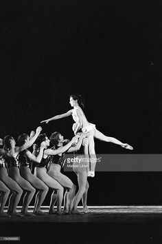 October 1967, the ballet 'Paradise Lost', choreography by Roland Petit Paris Opera, with Rudolf Nureyev and Margot Fonteyn. On stage, the dancer Margot Fonteyn supported by the dancers of the ballet.