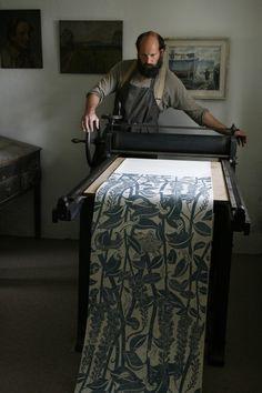 Varx, hand block-printed wallpaper by Cameron Short, Dorset, England | holeandcornermagazine.com