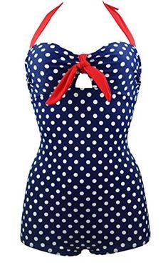 Cocoship 50s Blue Print Retro White Polka Dot Bathing Vintage One Piece Swimwear Swimsuit M(FBA) COCOSHIP http://www.amazon.com/dp/B00TI5C0BA/ref=cm_sw_r_pi_dp_n.eMvb0T0KP2H