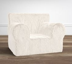 25a826037389 Ivory Faux Fur Oversized Anywhere Chair(R) Slipcover Only Fur Oversize
