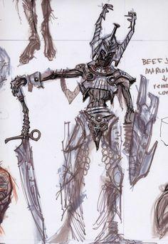 Draugr Concepts concept art from The Elder Scrolls V: Skyrim by Adam Adamowicz Elder Scrolls Oblivion, Elder Scrolls Games, Elder Scrolls V Skyrim, Skyrim Concept Art, Game Concept Art, Character Concept, Sketch Poses, Creature Concept, Character Design References