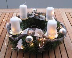 Adventskranz - ♥Sofort lieferbar edler XL Landhaus Adventskranz♥ - ein Designerstück von Sternenglanz-Clemens bei DaWanda