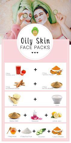 Oily Skin Care, Healthy Skin Care, Face Skin Care, Clear Skin Face Mask, Skin Mask, Homemade Face Pack, Homemade Skin Care, Easy Homemade Face Masks, Homemade Facials