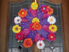 Flip Flop Flowered Peace Summer Wreath by YourRepurposedHome, on Etsy