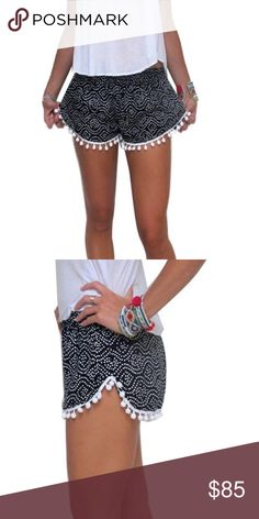 🌻Coming soon🌻Boho tassel casual beach shorts Coming soon💫  Size: S,M,L✨ perfect pom pom drop casual loose printed shorts perfect for spring and summer 🌻✨As seen on the picture 💫 like and leave me a comment to be notified once i they arrive ( final prices will be dropped then ) 👍🏻💛 Shorts