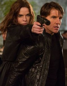 Tom Cruise Movie Mission Impossible Rogue Nation leather jacket