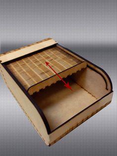 Roller Wooden Top Box