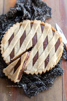 Marbled with Nutella® Glazed Chocolate - HQ Recipes Italian Desserts, Italian Recipes, Nutella Pie, Just Pies, Frozen Chocolate, Sweet Cakes, Burritos, Chocolate Recipes, Tasty
