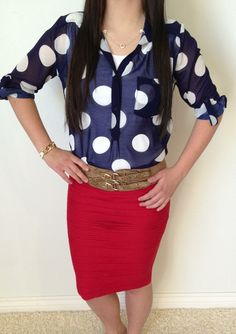 Go-Go Polka Dots Top
