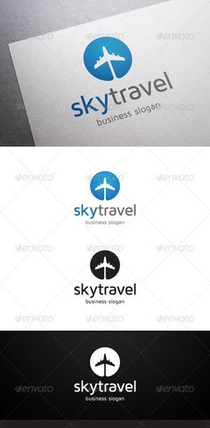 Sky Travel Logo  #GraphicRiver        Description Sky Travel Logo is a multipurpose logo. This logo that can be used by travel agencies, tickets seller, booking website, aircraft companies, etc. What's included?   100% vector  AI and EPS files  CMYK  Fully editable