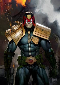 2000AD Illustrations by Ryan Brown