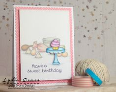 Loves Rubberstamps Sensational Sunday Blog Hop using Lawn Fawn Baked With Love