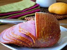 Baked Ham with Mango Glaze