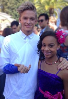 Cody Simpson and Nia Frazier @ TCAs 2013