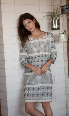 Jaipur Embroidered Shift Dress - Boho Trend - Festival Fashion