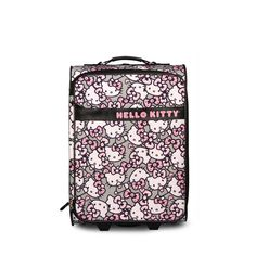 Hello Kitty Pink/Grey All Over Print Roller/Carry-on - Luggage - Hello Kitty - Brands