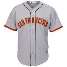 San Francisco Giants Majestic Official Cool Base Jersey - Gray - $99.99