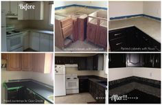 Nuvo Countertop Paint : Kitchen Cabinet DIY on Pinterest Laminate Tile Flooring, Cabinets ...