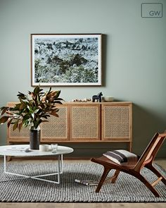 GlobeWest Willow buffet and living space