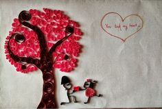 simple crafts making: quilled crafts for valentine day