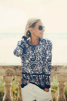 Chic coastal living: tory burch resort 2014 my style летние Parisienne Chic, Sweater Weather, Looks Style, Style Me, Preppy Style, Timeless Fashion, Fashion Beauty, Spring Summer Fashion, Summer Wear